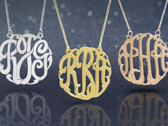 Monogram Sterling Necklace - 3 Options
